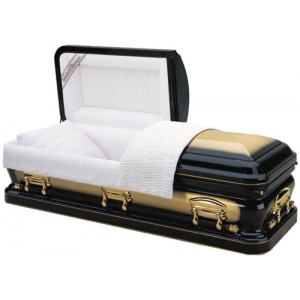 Apollo Gold 48oz Solid Bronze American Casket (Prestige Range) with 24 Karat Gold Plated Hardware