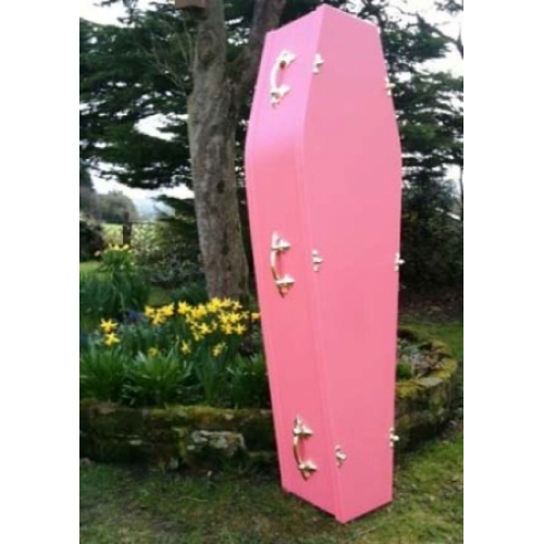 Traditional Pink Coffin - Beautiful colourful coffins