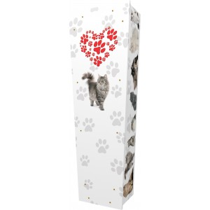 Loving Cats - Personalised Picture Coffin with Customised Design - Call for prices.
