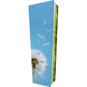 Dandelion (Blow & Wish) - Personalised Picture Coffin with Customised Design.