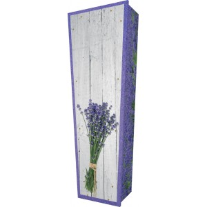Lavender Love… - Personalised Picture Coffin with Customised Design.