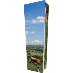 Farming - Personalised Picture Coffin with Customised Design.