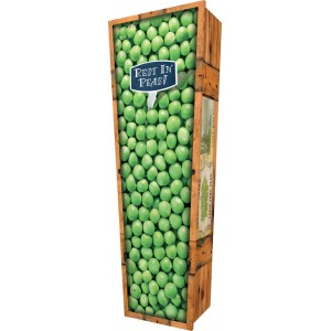 Rest in Peas - Personalised Picture Coffin with Customised Design.