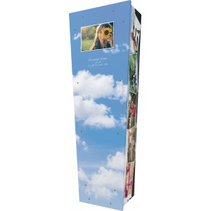 Montage of Personal Images - Personalised Picture Coffin with Customised Design.