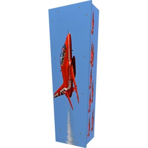 Freedom (Formation Flying) - Personalised Picture Coffin with Customised Design.