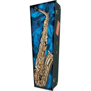 Jazz Expression (Saxophone) - Personalised Picture Coffin with Customised Design.