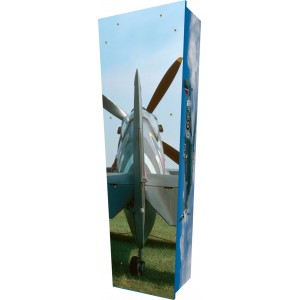 Spitfire Dawn - Personalised Picture Coffin with Customised Design.