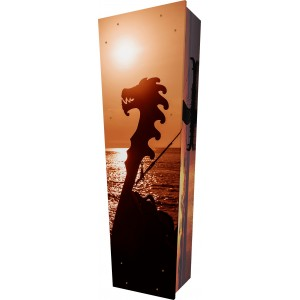 Farewell My Viking - Personalised Picture Coffin with Customised Design.