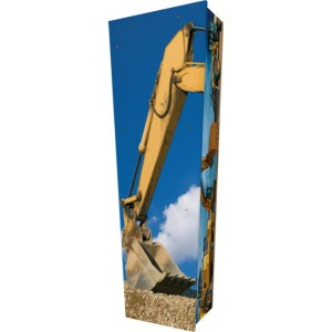 Heavy Plant Machinery / Construction / Digging - Personalised Picture Coffin with Customised Design.