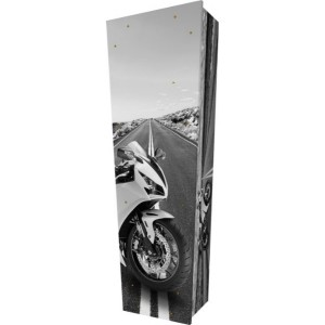 The Open Road / Motorcycles / Motorbikes - Personalised Picture Coffin with Customised Design.