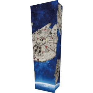 Star Wars Millennium Falcon (May the Force..) - Personalised Picture Coffin with Customised Design.