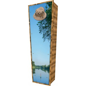 Gone Fishing - Personalised Picture Coffin with Customised Design.