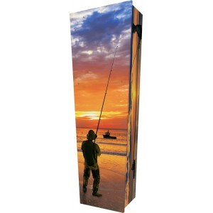 The Catch (Sea Fishing) - Personalised Picture Coffin with Customised Design.