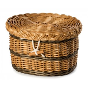 Premium English Wicker / Willow Cremation Ashes Urn / Casket – Natural Brown & Chestnut