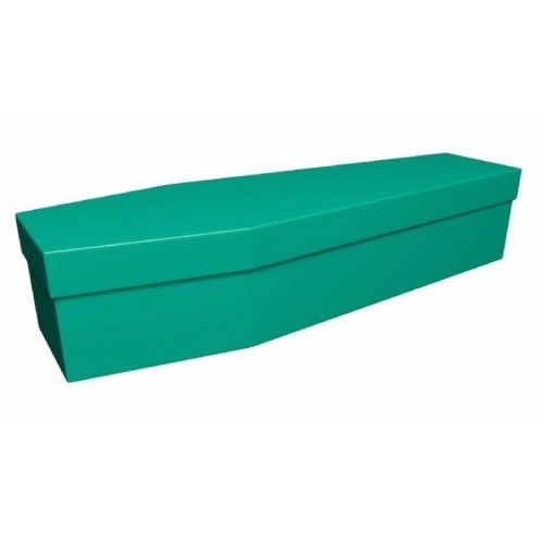 Premium Cardboard Coffin – MEADOW GREEN