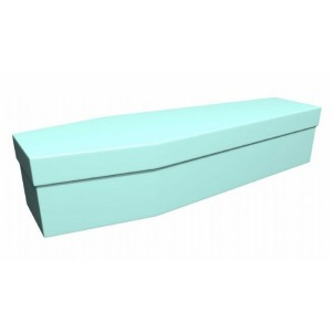 Premium Cardboard Coffin – ICY BLUE