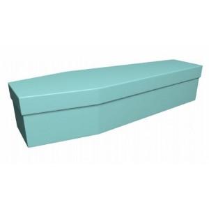 Premium Cardboard Coffin – MINTY GREEN