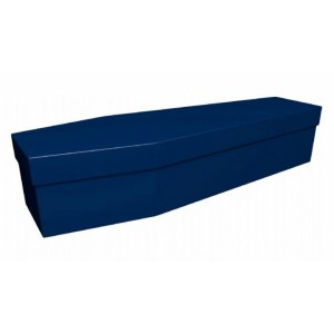 Premium Cardboard Coffin – NAVY BLUE