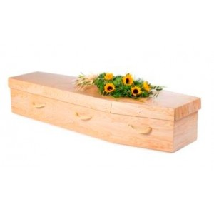 Premium Cardboard Coffin - Woodgrain Timber Effect