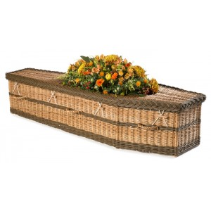 English Willow Imperial Traditional (Toffee & Chestnut Brown). **Environmentally Friendly Wicker Coffins**