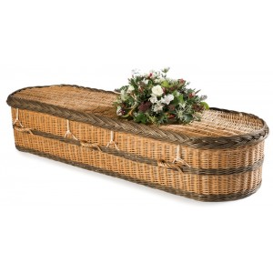 English Willow Imperial Oval (Buff & Brown) - Handmade using sustainable English Willow