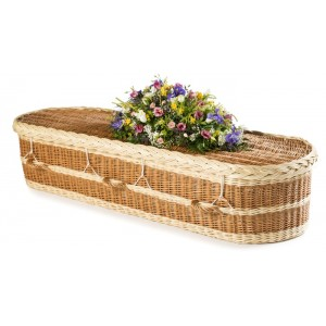 English Willow Imperial Oval (Buff & Lighter Natural Wicker). - **Caringly Handmade in the UK**