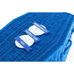 Your Football Team Colours - Wicker / Willow Coffins – Example BIRMINGHAM CITY F.C.
