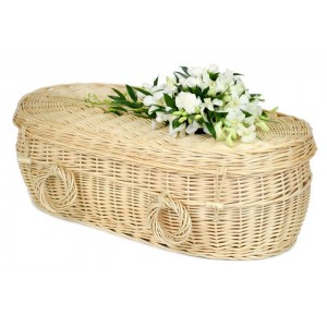 Baby, Infant & Child Creamy White (Oval Shape) Wicker / Willow Coffins