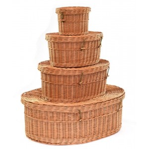Beautifully Woven Wicker / Willow Pet Coffin / Casket. Available in a number of sizes.