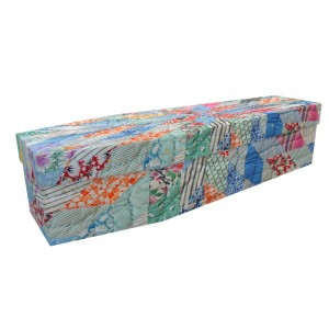 Quilting / Quilter / Patchwork Quilt / Sewing – Abstract & Creative Design Picture Coffin