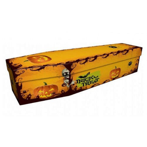 Trick or Treat – Abstract & Creative Design Picture Coffin