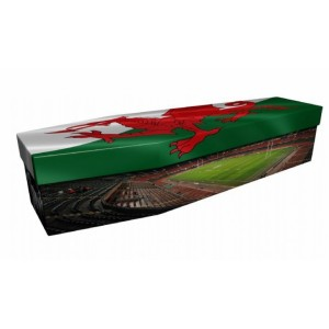 I Am Rugby # I Am Wales – Sports & Hobbies Design Picture Coffin