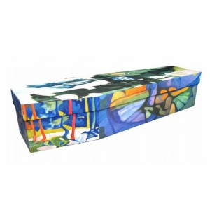 The Artist – Abstract & Creative Design Picture Coffin