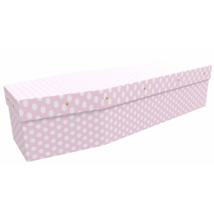 Pretty Pink Polka Dot Fashion Style Pattern – Abstract & Creative Design Picture Coffin