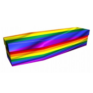 Colourful Reflections – Abstract & Creative Design Picture Coffin
