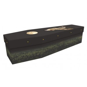 Howling Wolf Moon - Animal & Pet Design Picture Coffin