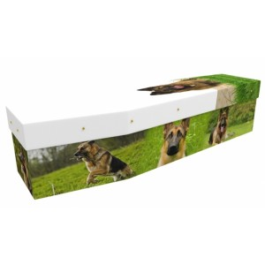 Alsatian Dog - Animal & Pet Design Picture Coffin