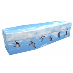 Swallows Flight - Animal & Pet Design Picture Coffin