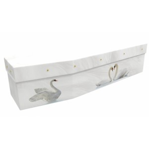 Love Birds (Swan Lake) - Animal & Pet Design Picture Coffin