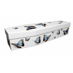 Blue Butterfly – Animal & Pet Design Picture Coffin