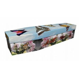 Amazing Butterflies – Animal & Pet Design Picture Coffin