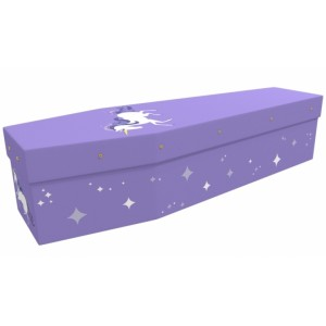 Illustrated Unicorn - Animal & Pet Design Picture Coffin