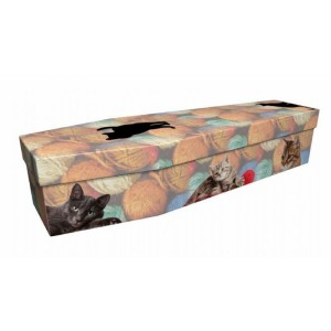 Cats with Yarn – Animal & Pet Design Picture Coffin