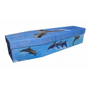 Dolphins – Animal & Pet Design Picture Coffin
