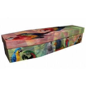 Pretty Birds – Animal & Pet Design Picture Coffin