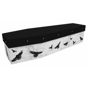 Black Birds (Rook & Crow) - Animal & Pet Design Picture Coffin
