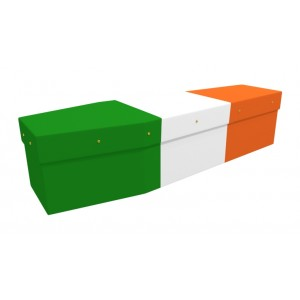 IRELAND (Adorable Irish) - Flag Design Picture Coffin