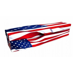 AMERICAN (STARS & STRIPES) - Flag Design Picture Coffin