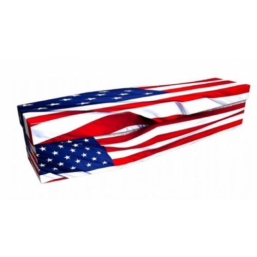 AMERICAN (STARS & STRIPES) - Flag Design Picture Coffin