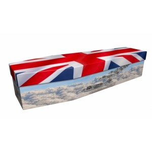 UNION JACK RAF (Reach for the Sky) - Flag Design Picture Coffin